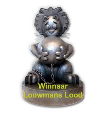 Louwmans lood. winnaar loden leeuw, slechtste slagzin