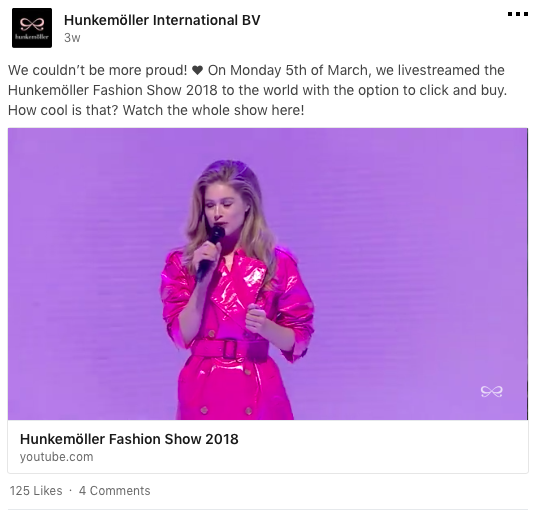 Hunkemöller, social media, LinkedIn, tips