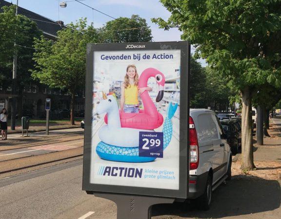 roze flamingo luchtbed, eenhoorn, action reclame