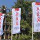 Amsterdamsche vlaggen voor AIDS, promotie event Amsterdam