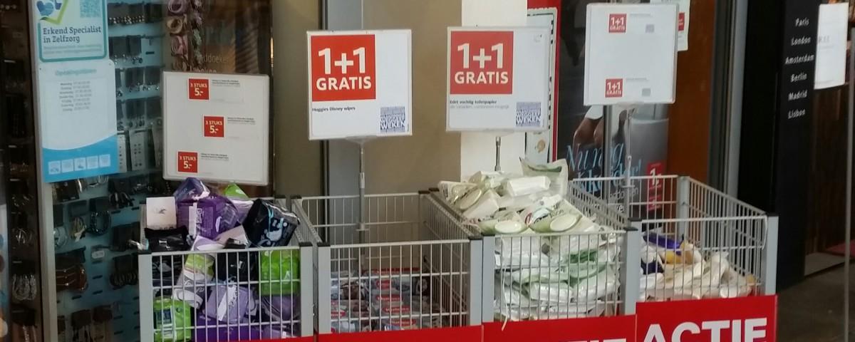 Actiepakkers en marketing trucjes trekkers 1+1 gratis aanbieding