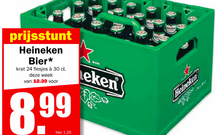 Prijspakker marketing goedkope krat bier