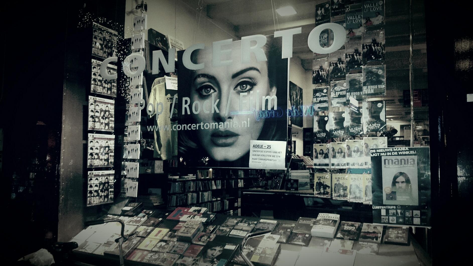 Adele, V&D, retail, concerto, marketing, doelgroep, platenzaak