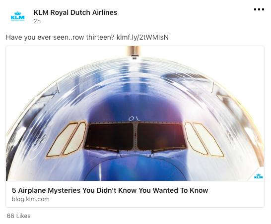 KLM social media, LinkedIn, tips