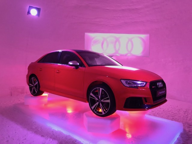 Audi quattro in iglo Kaprun